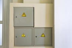 Risico van elektrische schok Stock Foto's