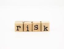 Risico verwoording, investering en verzekeringsconcept royalty-vrije stock fotografie