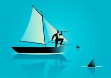 Risico in zaken stock illustratie