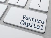 Risicodragend kapitaal op Toetsenbordknoop Royalty-vrije Stock Afbeelding
