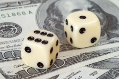 Risicofactor op dollarmarkten Royalty-vrije Stock Foto's