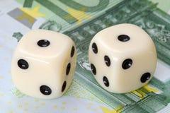 Risicofactor op euro investeringen Stock Afbeeldingen