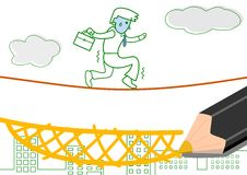 Risicowaarborg vector illustratie