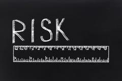 Risicowoord en heerser stock fotografie
