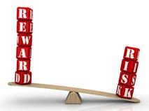 Risiko überwiegt Belohnung stock abbildung