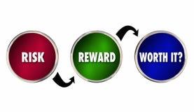 Risiko-Belohnung wert sie Analyse-Bewertung lizenzfreie abbildung