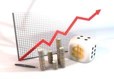 Risiko für Erfolgs-Geschäft Stockbild