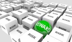 Risiko gegen Belohnungs-Anlagenrendite-Ergebnis-Ergebnis Lizenzfreie Stockfotos