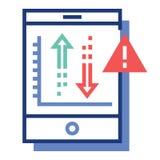Risiko-Investition FlatOutline-Illustration vektor abbildung