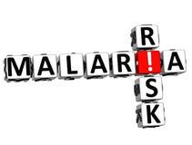 Risiko-Kreuzworträtseltext der Malaria-3D Lizenzfreies Stockbild
