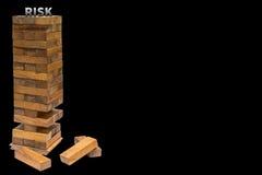 Risiko mit dem Schreibungshintergrund Lizenzfreie Stockfotos