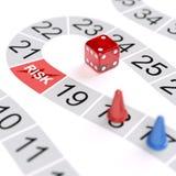 Risiko-Spiel-Konzept Stockfotos