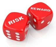 Risiko und Belohnung würfelt Lizenzfreies Stockbild
