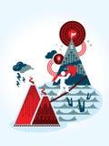 Risiko- und Belohnungsgeschäftskonzept Illustration Stockfotografie
