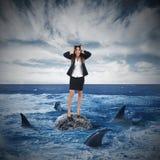 Risiko und Druck im Geschäft stockbild