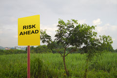 Risiko voran lizenzfreies stockbild