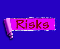 Risiko-Wort-Durchschnitte, die on-line-Gewinn- und Verlust investieren Stockbild