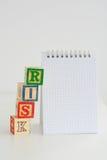 Risikobeurteilung oder Verwaltungsplan Stockbilder