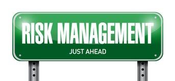 Risikomanagement-Straßenschildillustrationsdesign Lizenzfreie Stockbilder