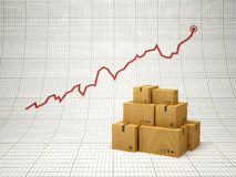 Rising amount of delivered goods Stock Photos