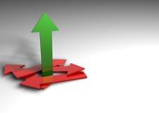 Rising arrow Stock Photography