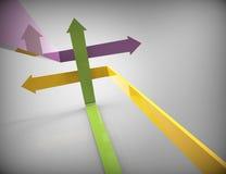 Rising arrows Royalty Free Stock Photos