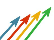 Rising arrows index Stock Photography