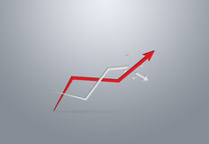 Rising arrows, representing business growth. Success concept Stock Photos
