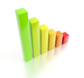 Rising bar chart royalty free stock image