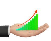 Rising Bar Graph Royalty Free Stock Images