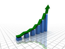 Rising bar graph (XXL) Royalty Free Stock Photography