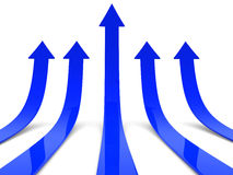 Rising blue arrows Royalty Free Stock Image