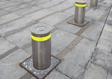 Rising bollards Royalty Free Stock Photography