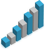 Rising business graph illustration Royalty Free Stock Photography