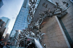 Rising--Chinese Sculpture in Downtown Toronto Stock Photography