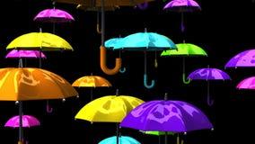 Rising Colorful Umbrellas stock video