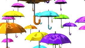 Rising Colorful Umbrellas stock video footage