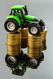 Rising costs in agriculture Stock Photo