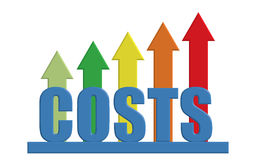 Rising costs stock photography