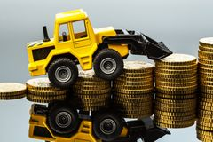 Rising costs in the construction industry Royalty Free Stock Images