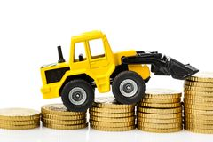 Rising costs in the construction industry Royalty Free Stock Photography