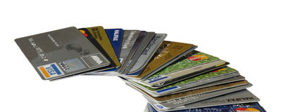 Rising Credit Card Debt Stock Photo
