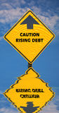 Rising Debt Stock Photo