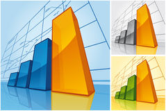 Rising diagram Stock Photo