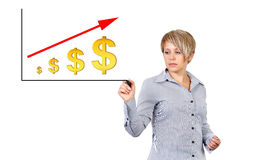 Rising dollar Stock Photo