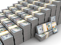 Rising dollar Royalty Free Stock Photography
