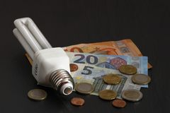 The Rising energy costs. The all times Rising energy costs stock photo