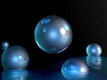 Rising fantasy balls. Digital artwork Stock Photography