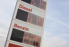 Rising fuel prices. royalty free stock images
