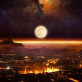 Rising full moon, supermoon Stock Images